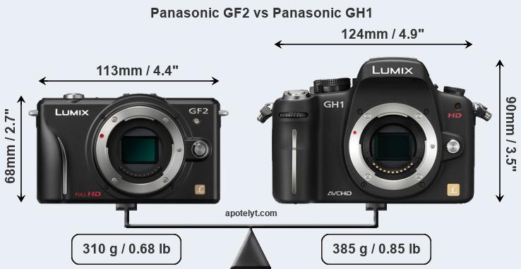 Size Panasonic GF2 vs Panasonic GH1