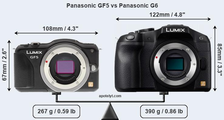 Panasonic GF5 vs Panasonic G6 Comparison Review
