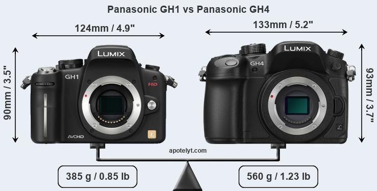 Compare Panasonic GH1 vs Panasonic GH4