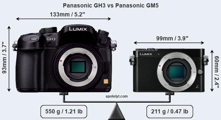 Compare Panasonic GH3 vs Panasonic GM5