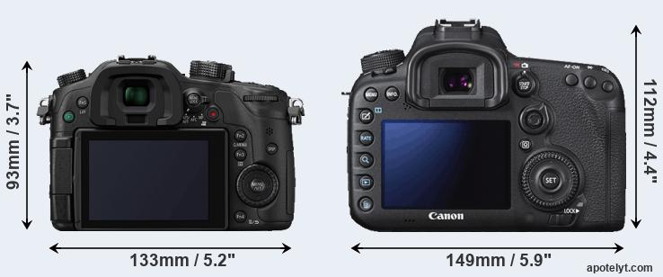 GH4 and 7D Mark II rear side