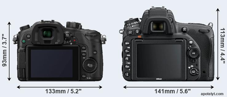 GH4 and D750 rear side