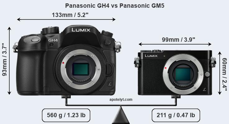 Compare Panasonic GH4 vs Panasonic GM5