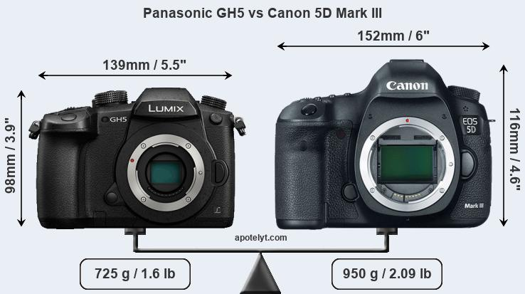 Compare Panasonic GH5 vs Canon 5D Mark III