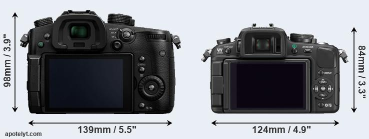 GH5 and G1 rear side