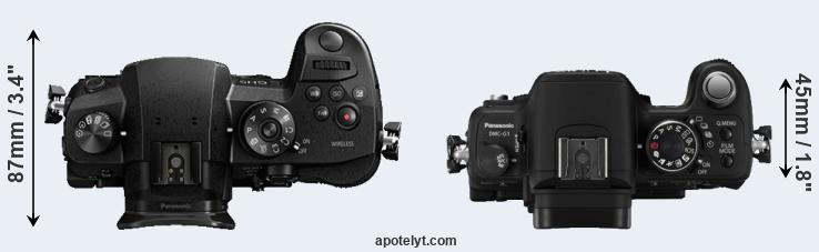 GH5 versus G1 top view