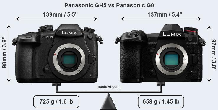 Panasonic GH5 vs Panasonic G9 front
