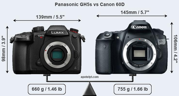 Compare Panasonic GH5s vs Canon 60D
