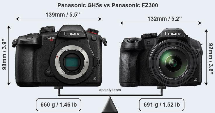 Compare Panasonic GH5s vs Panasonic FZ300