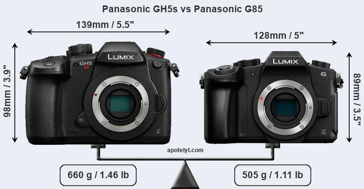 Compare Panasonic GH5s vs Panasonic G85