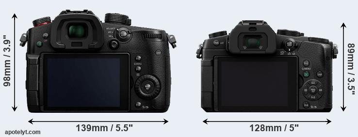 GH5s and G85 rear side