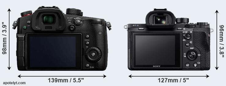 GH5s and A7S II rear side