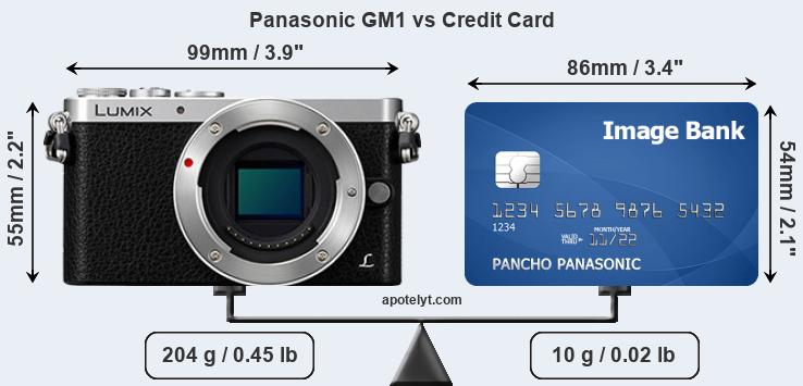 Panasonic GM1 vs credit card front