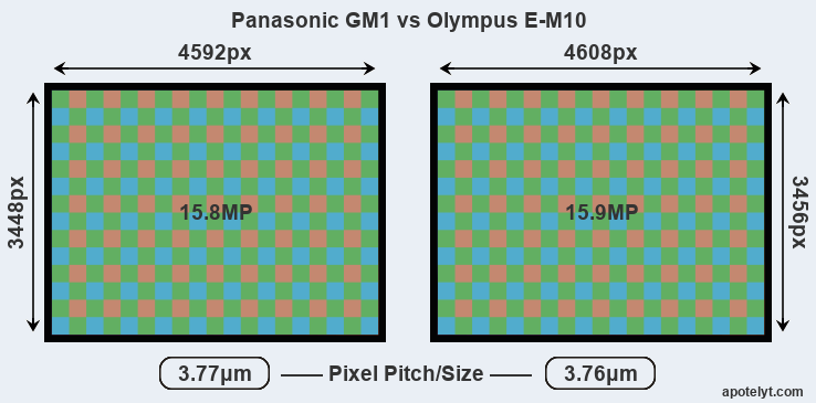 GM1 versus E-M10 MP