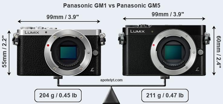 Size Panasonic GM1 vs Panasonic GM5