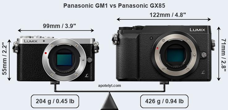 Compare Panasonic GM1 vs Panasonic GX85