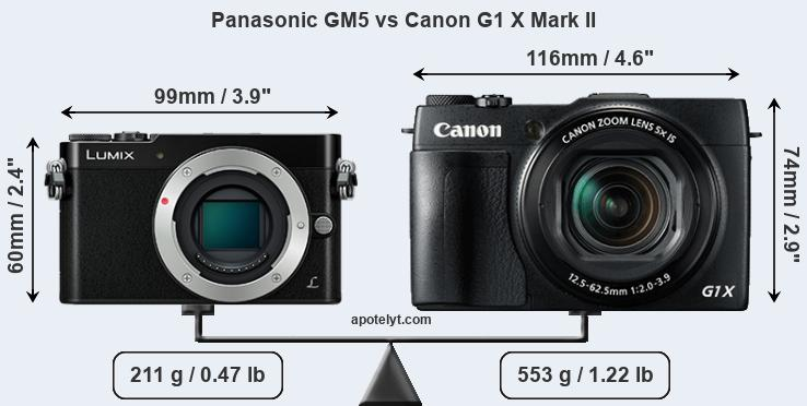 Compare Panasonic GM5 and Canon G1 X Mark II