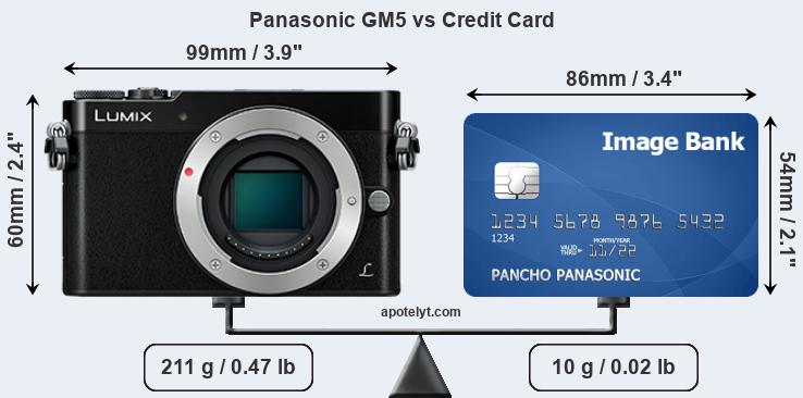 Panasonic GM5 vs credit card front