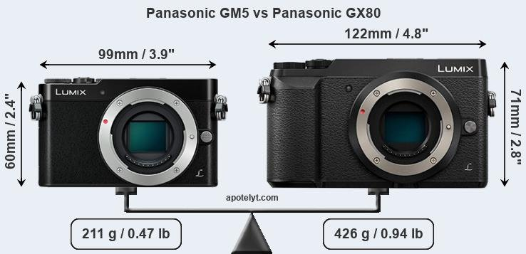 Panasonic GM5 vs Panasonic GX80 front