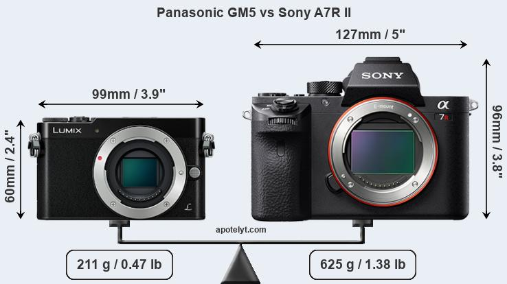 Compare Panasonic GM5 vs Sony A7R II