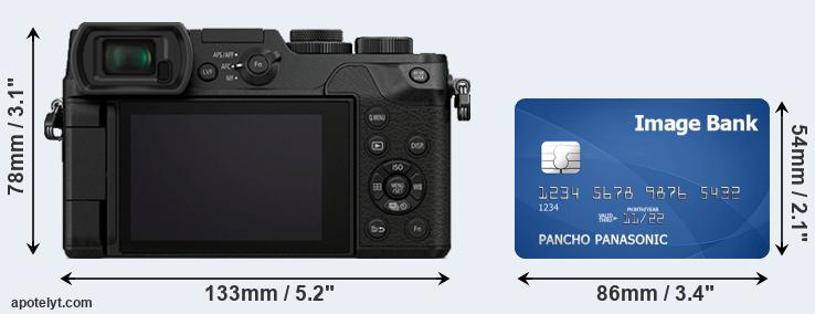 GX8 and credit card rear side