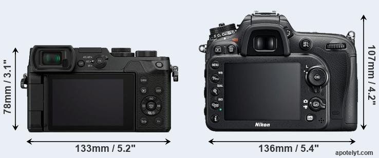 GX8 and D7200 rear side