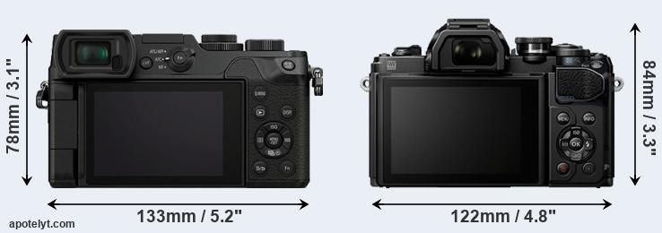 GX8 and E-M10 III rear side