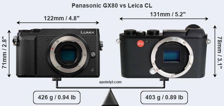 Snapsort Panasonic GX80 vs Leica CL