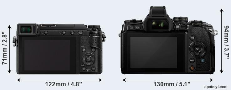 GX80 and E-M1 rear side