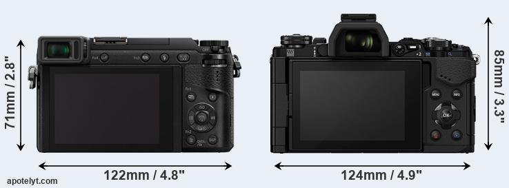 GX80 and E-M5 II rear side