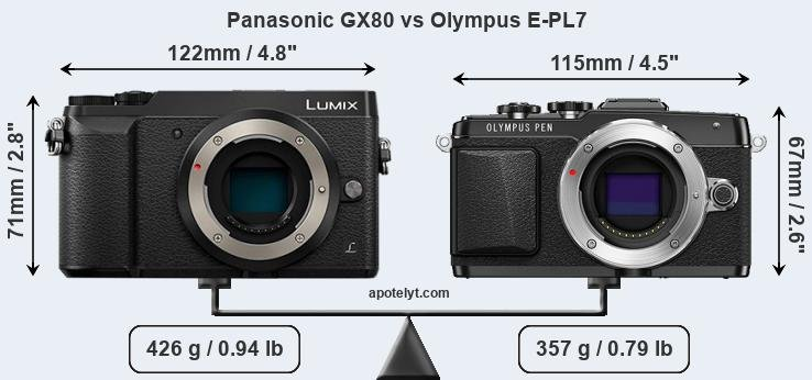 Compare Panasonic GX80 and Olympus E-PL7