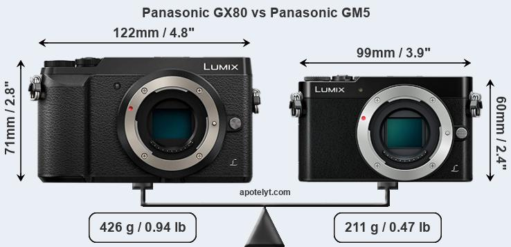 Compare Panasonic GX80 vs Panasonic GM5