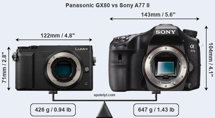 Compare Panasonic GX80 and Sony A77 II