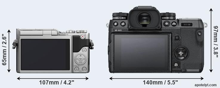 GX800 and X-H1 rear side