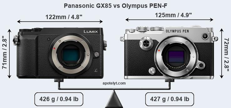 Compare Panasonic GX85 vs Olympus PEN-F
