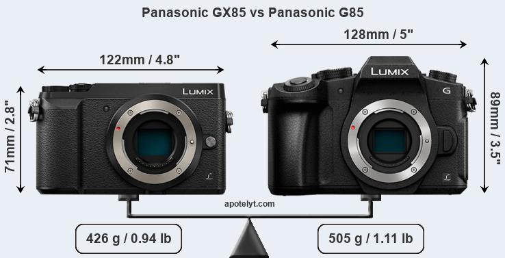 Panasonic GX85 vs Panasonic G85 front