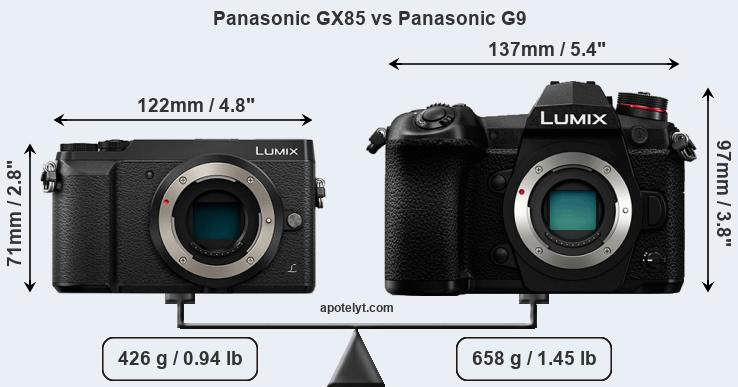 Panasonic GX85 vs Panasonic G9 front