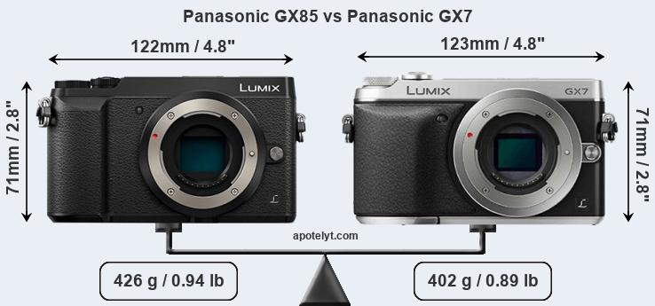 Compare Panasonic GX85 vs Panasonic GX7