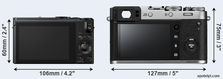 LX10 and X100F rear side