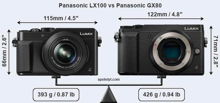 Panasonic LX100 vs Panasonic GX80 front