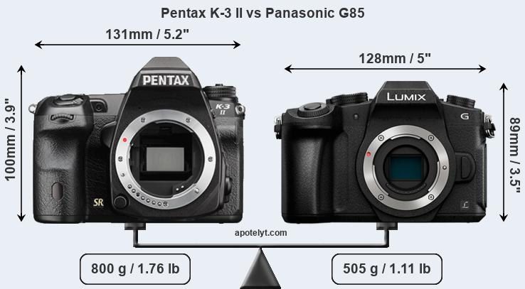 Compare Pentax K-3 II vs Panasonic G85