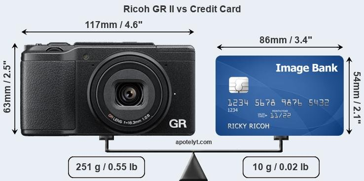 Ricoh GR II vs credit card front