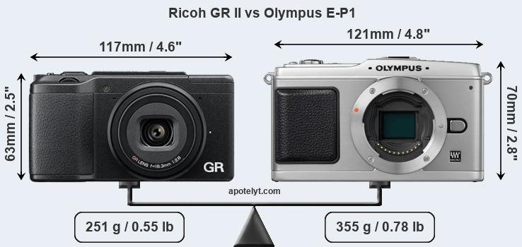 Compare Ricoh GR II and Olympus E-P1