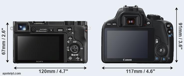 A6000 and 100D rear side