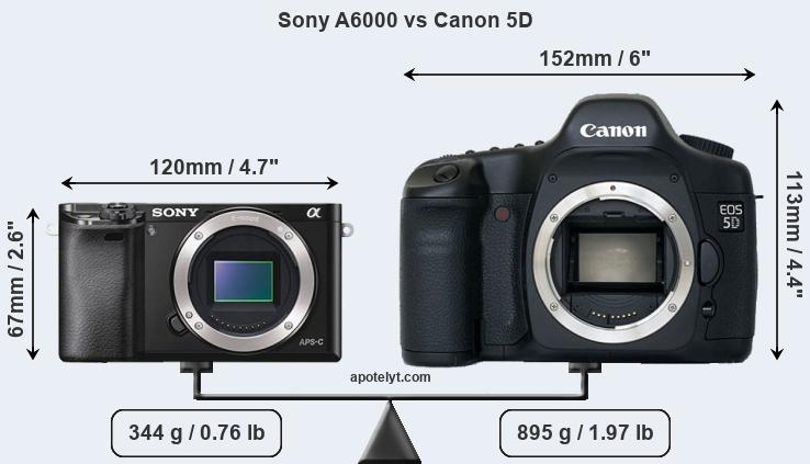 Compare Sony A6000 vs Canon 5D