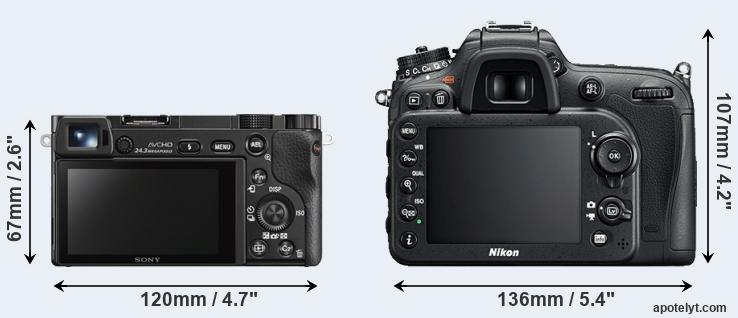 A6000 and D7200 rear side