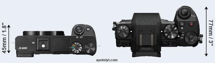A6000 versus G7 top view