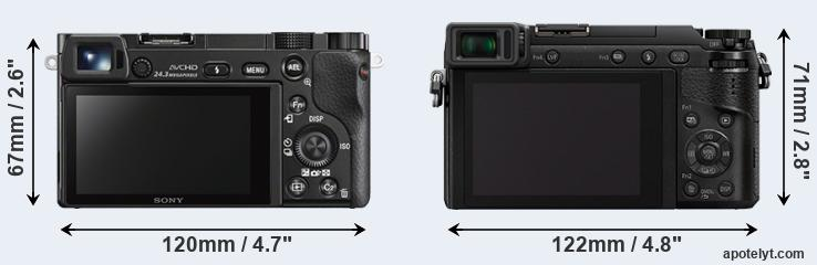 A6000 and GX85 rear side