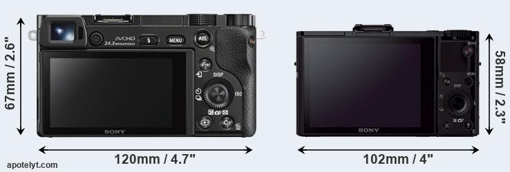 A6000 and RX100 II rear side