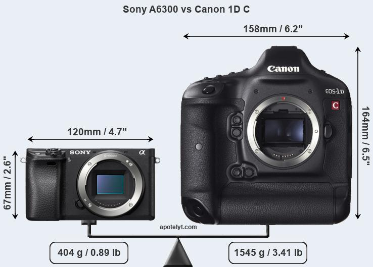 Compare Sony A6300 vs Canon 1D C